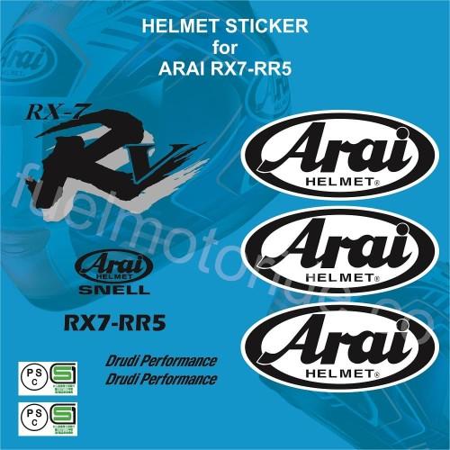 Foto Produk Sticker Set Helm Arai RX7 RR5 utk repaint modofication repair nt shoei dari Fuel