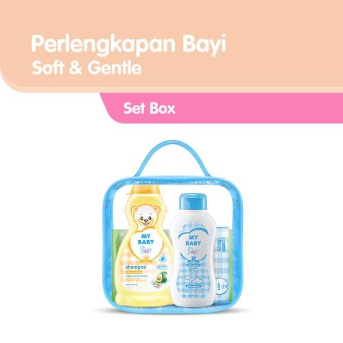Foto Produk My Baby Set Perlengkapan Bayi - Soft and Gentle Biru dari Tempo Store Official
