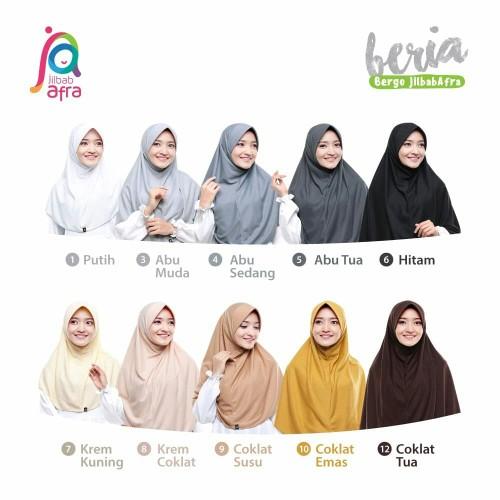 Foto Produk Jilbab Afra Beria ukuran L dari Hijab Fathia