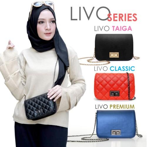 Foto Produk TAS LIVO SLING BAG FASHION WANITA IMPORT BATAM CLUTCH MINI MURAH dari handbagku