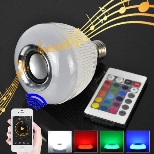 Foto Produk Bohlam Speaker Musik Bluetooth 2 In 1 - Lampu Speaker LED wireless dari Escape_shop