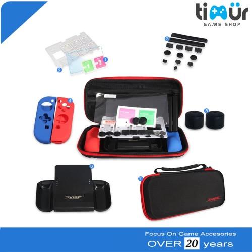 Foto Produk 7 IN 1 Protective Kit Carrying Bag Travel Case Nintendo Switch DOBE dari Timur Game Shop