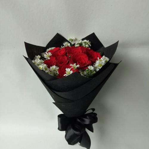 Foto Produk Buket bunga mawar asli bucket wisuda hadiah ulang tahun dari Freshcut Flower