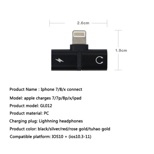 Foto Produk AUDIO SPLITTER 2IN1 FOR IPHONE CHARGING & MUSIC LIGHTNING ADAPTER IOS dari teddyscamera