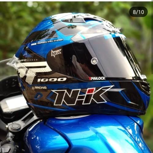 Foto Produk NHK GP1000 Star Blue & asesoris dari TOKO HELM BOGOR