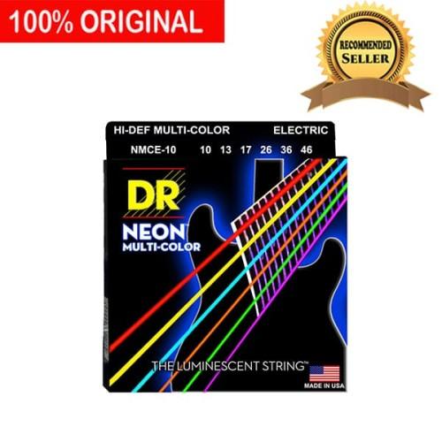 Foto Produk Senar Gitar Listrik Elektrik Neon Multi Warna DR Strings NMCE 10 dari Mayor Minor Musik