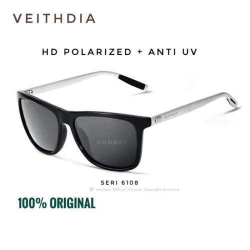 Foto Produk Original Kacamata Polarized l polaroid Sunglasses VEITHDIA SR-6108 - Tanpa minus dari chobuy