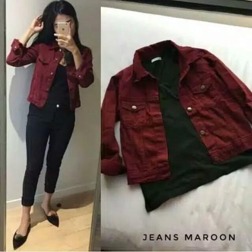 Foto Produk jaket Jeans wanita Levis Jaket Cewek Denim Fashion Muslim In-out door - Hitam dari Nuruni Ad