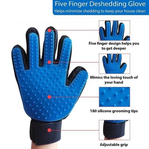 Foto Produk True Touch Pet Glove / Sarung Tangan Sisir Anjing Kucing Grooming dari Produkkita