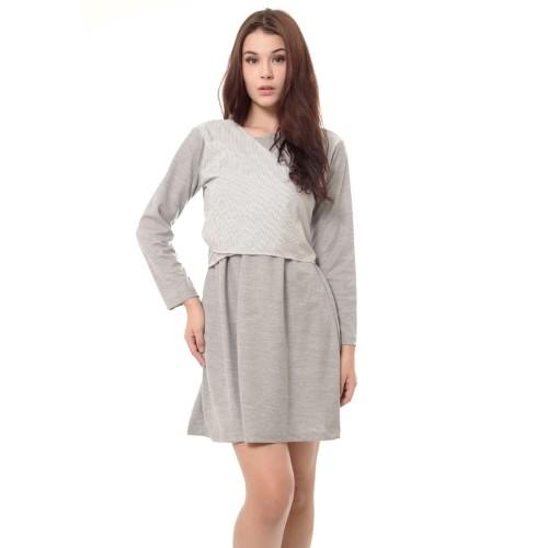 Foto Produk Yoenik Apparel Slap Rope Dress Misty Gray M13073 R25S2 dari Yoenik Apparel