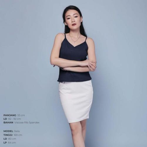 Foto Produk Ready Blouse Wanita Murah Surabaya Knit Camisole Navy dari Jane Collection