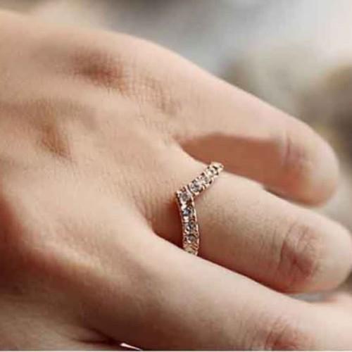 Foto Produk cincin berlian simpel retro diamond ring jci045 - gold dari Oila