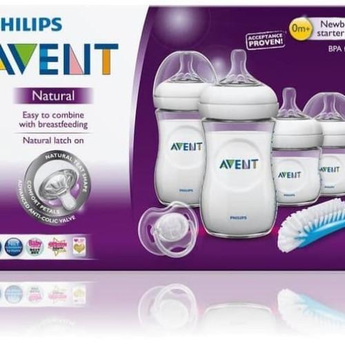 Foto Produk PHILIPS AVENT Natural Newborn Starter Set Bottle Pacifier Brush dari ANINDHITA Clodishop