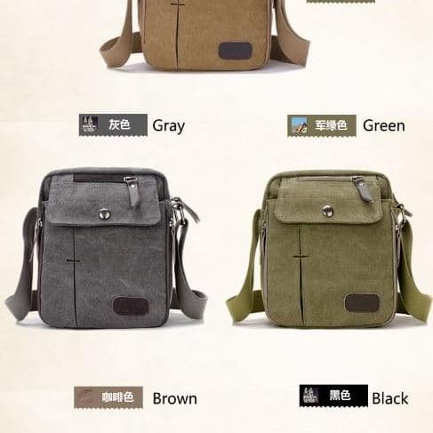 Foto Produk tas selempang kanvas pria /sling bag / tas slempang cowok / travel bag dari Babyliss Master