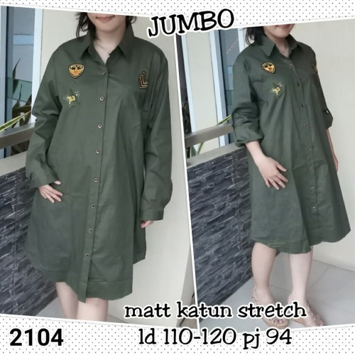 Foto Produk 2104#tunik dress army jumbo, dari C&R collections