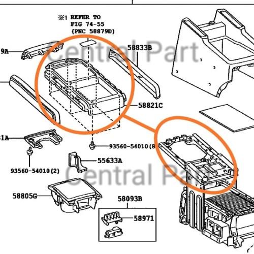Foto Produk Console Box (Tatakan atas) untuk Toyota Alphard 2008 dari Central Part