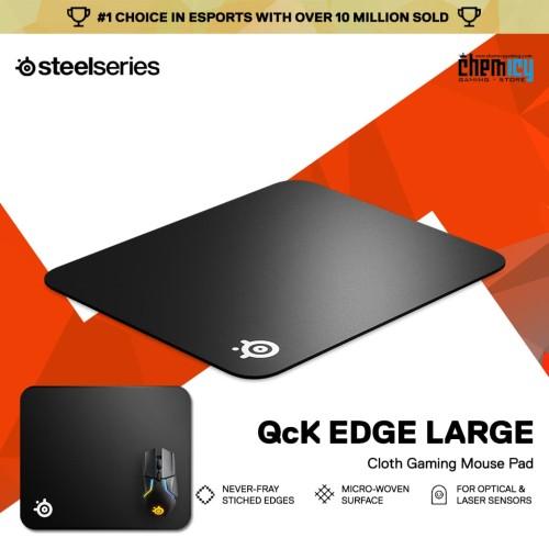 Foto Produk Steelseries QcK Edge Large Cloth Gaming Mousepad dari Chemicy Gaming