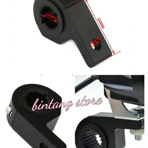 Foto Produk bracket stang / braket crashbar motor lampu sorot / tembak universal dari BINTANG _ STORE