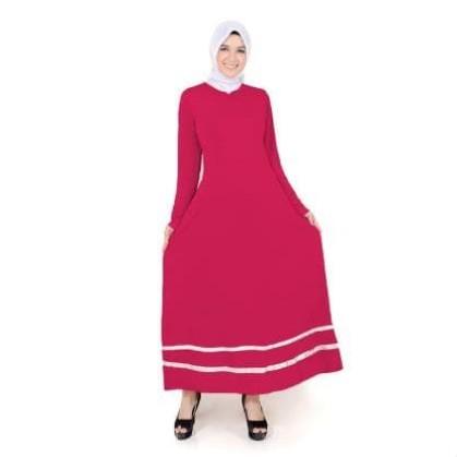Foto Produk mc fashion Long Dress Gamis Maxi tangan panjang Variasi pita - Fathina - Hitam dari mc -fashion