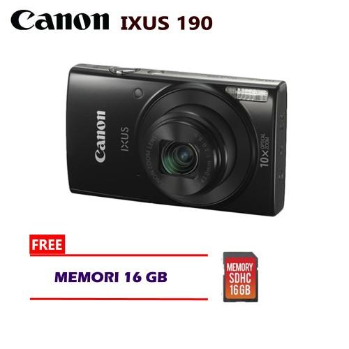 Foto Produk Kamera Canon IXUS 190 Camera Pocket Digital Free Memori 16 GB dari Multi Elektronik Shop