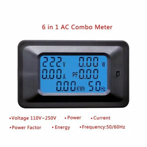 Foto Produk Digital KWH Meter Watt Meter Ampere Volt Frequensi dari Zerisha Electro