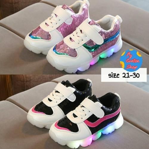 Foto Produk Sepatu Anak Perempuan LED Import dari IYPED'S