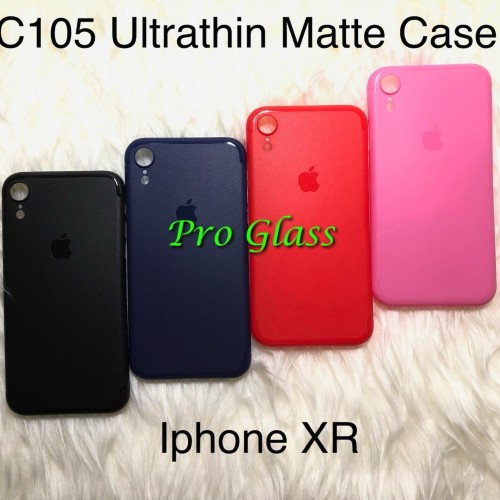 Foto Produk C105 Iphone XR Frosted Matte Case Ultrathin Premium + Lens Protector dari Pro Glass