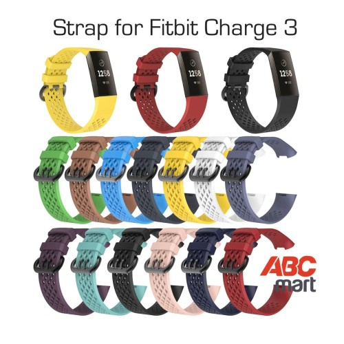 Foto Produk Strap band for FITBIT CHARGE 3 Silikon hole - tali jam sport watch dari ABCmart