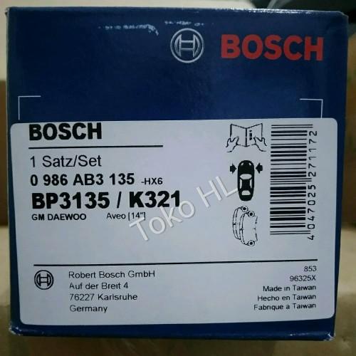 Foto Produk Kampas Rem Depan Chevrolet Spin / All New Avio 14- BOSCH BP 3135 dari Toko HL Online