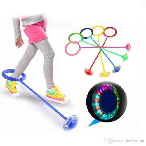 Foto Produk Mainan Olahraga Anak Lompat Dance Circle Flash Jump Ring Skip It Ball dari lbagstore
