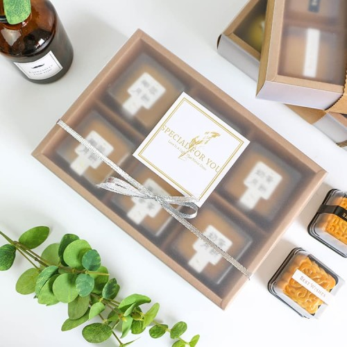 Foto Produk kotak karton box mika semi transparan tebal elegan dus import - Hitam dari Jual Grosir Online