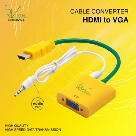 Foto Produk Converter HDMI To VGA With Audio RVTECH dari dbestshop.collection