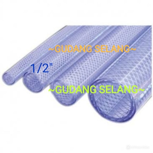 """Foto Produk Selang Air uk 1/2""""/Selang PVC Benang/Selang Plastik/Selang Taman dari Gudang Selang"""