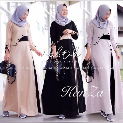 Foto Produk Baju Gamis Wanita Terbaru Kanza Dress Termurah dari hijabafwa