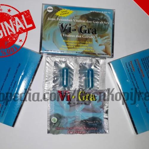 Foto Produk Sachet Kecil Vi - Gra Vitalitas dan Gairah Pria Dewasa Ori ASLI HALAL dari Agen Resmi Kopi Jreng