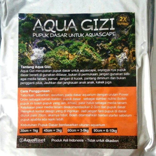 Foto Produk Pupuk Dasar Aquascape Aqua Gizi 1kg dari saungikan juga