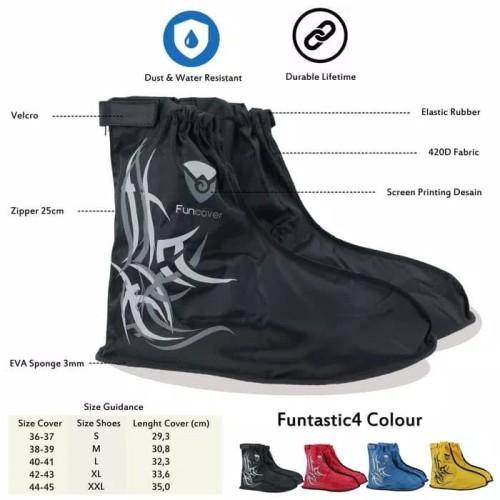 Foto Produk Cover Shoes Anti Air Funcover, jas hujan sepatu FUNCOVER dari herman-shop