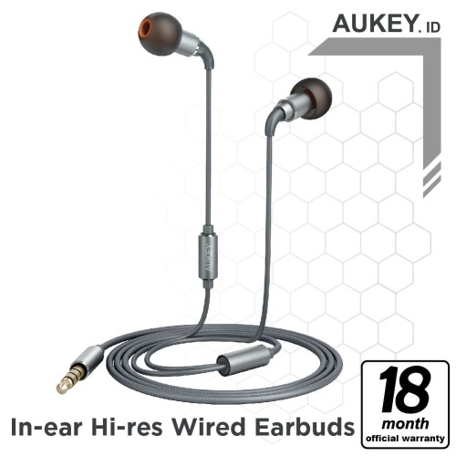 Foto Produk Aukey Headset Earbuds IN-EAR HI-RES Wired - 500286 dari AUKEY