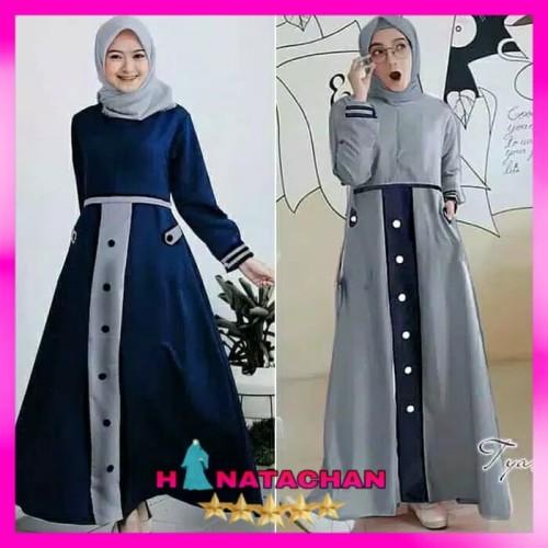 Foto Produk Baju Gamis Wanita Terbaru / Tya Dress Muslim Remaja Kekinian - Merah Muda, All Size dari HINATACHAN