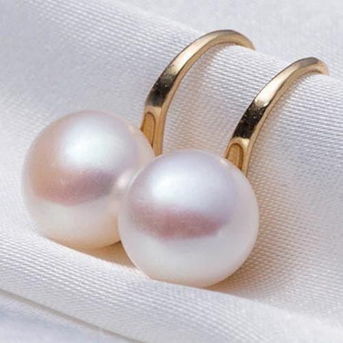 Foto Produk Anting Wanita Mutiara Anting Kait Bridal Perhiasan Pesta Pernikahan - Kuning dari Dewok helm