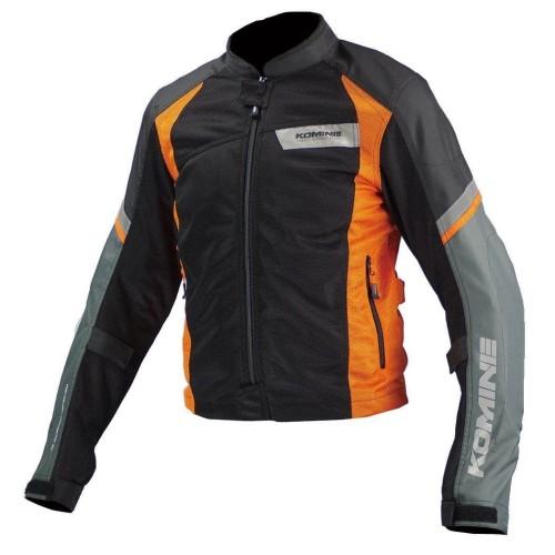 Foto Produk Komine JK-101 Riding Mesh Jacket Light Original Jaket - Black Orange - SIze XL dari Helm Cargloss