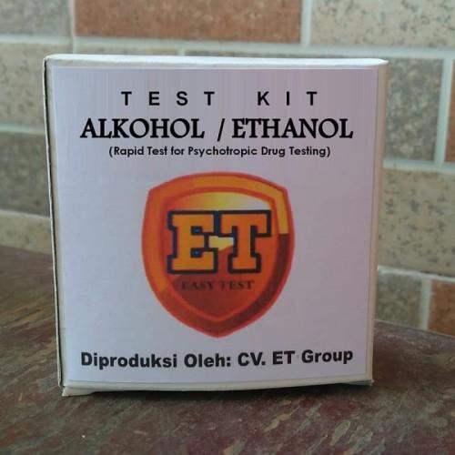 Foto Produk Test Kit Alkohol - Ethanol Testkit - Alat Tes Urine Teskit Etanol dari easytest