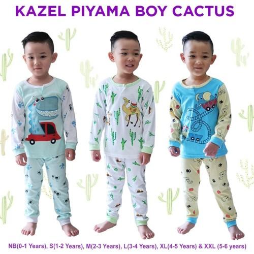 Foto Produk Kazel - Piyama Boy CACTUS - Newborn dari Chubby Baby Shop