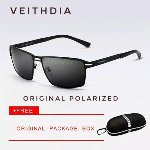 Foto Produk Kacamata Polarized Veithdia pria l Anti UV l polaroid 2711 - tanpa minus dari chobuy