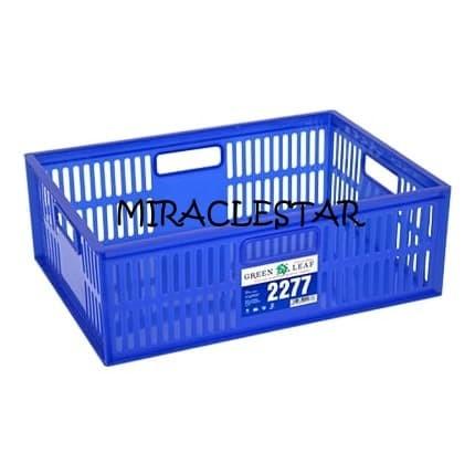 Foto Produk Container 2277 Green Leaf Keranjang Industri Serbaguna Lubang (GOJEK) dari miraclestar