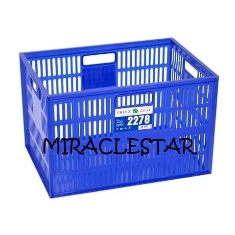 Foto Produk Container 2278 Green Leaf Keranjang Industri Serbaguna Lubang (GOJEK) dari miraclestar