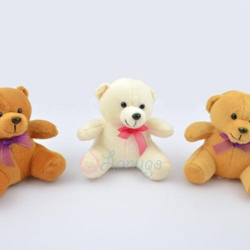 Foto Produk Boneka Teddy Bear Kecil / Mini / Beruang Kecil Polos Murah - Cokelat Muda dari Lanugo