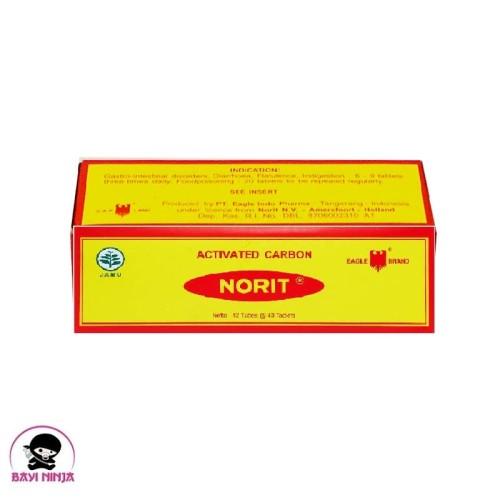 Foto Produk CAP LANG NORIT Activated Carbon isi 40 tablet 125 mg dari BAYININJA
