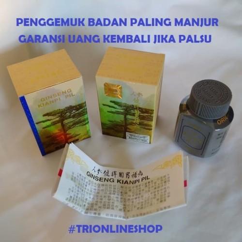 Foto Produk Gingseng Kian Pi Pil GOLD Obat Penggemuk Badan Paling Manjur dari TRIONLINESHOP