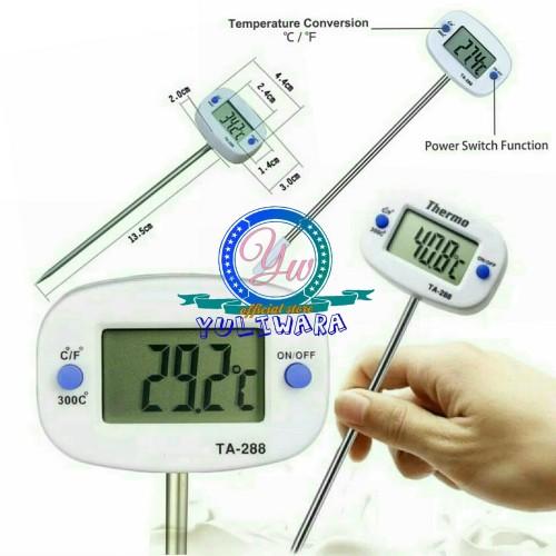 Foto Produk Termometer Digital Makanan Fleksibel Pengukur Suhu Masakan minuman dari YULIWARA Olshop